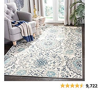 Safavieh Madison Collection MAD600C Boho Chic Glam Paisley Non-Shedding Stain Resistant Living Room Bedroom Area Rug, 5'3