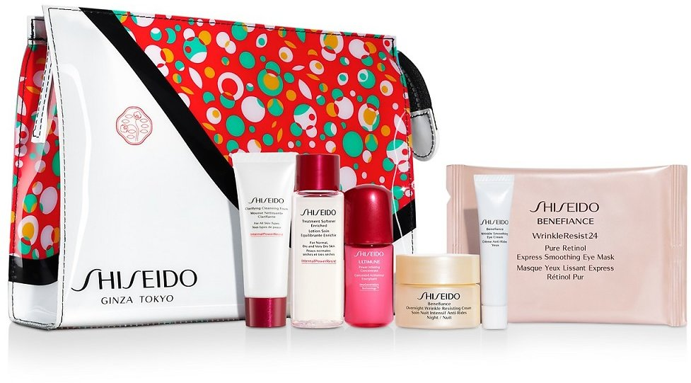 Free 7pc Gift with Any $85 Shiseido Purchase (Up to a $124 Value!)