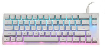 GamaKay K66 Mechanical Keyboard 66 Keys Gateron Switch Hot Swappable Tyce-C Wired RGB Backlit Gaming Keyboard with Crystalline Base for PC Laptop