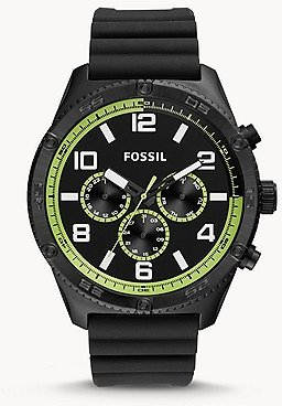 Brox Multifunction Black Silicone Watch - BQ2534 - Fossil