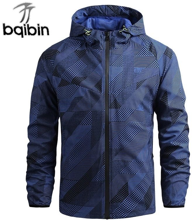 2021 New Windbreaker Jacket Men Autumn Outdoor Hooded Outwear Zipper Thin Jacket 5XL Plus Size