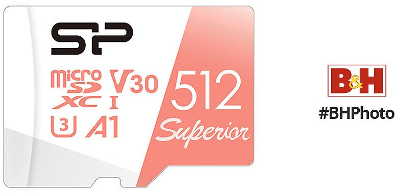 Silicon Power 512GB Superior UHS-I MicroSDXC Memory Card with SD Adapter