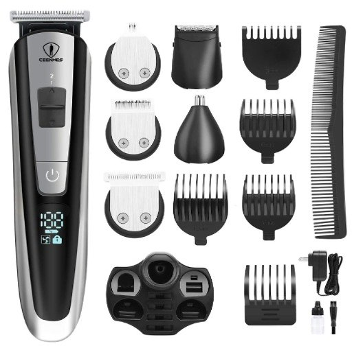 Ceenwes Men's Grooming Kit Clippers Hair Trimmer