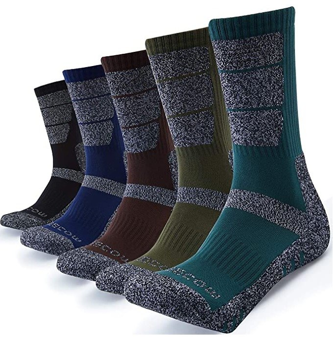 Save 40% On Hiking Socks For Men - 5 Pairs