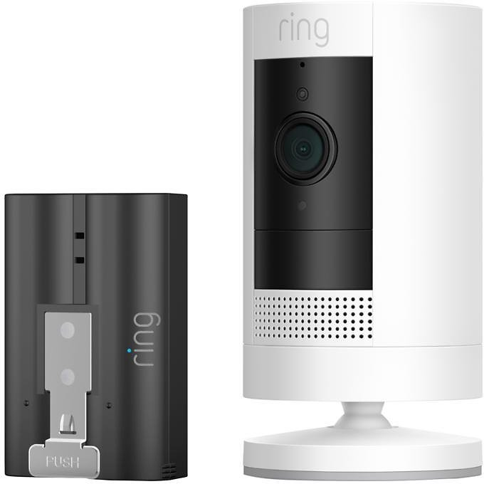 Ring Security Stick Up Cam with Extra Battery and Ring Assist+