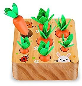 Amazon #AD : Carrot Harvest Game Wooden Toy For $10.45