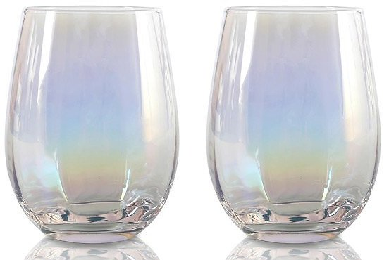 Iridized Double Old-Fashioned Glass
