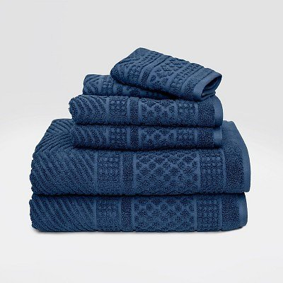 Apothecary Bath Towels 6-Piece Set (Turquoise)