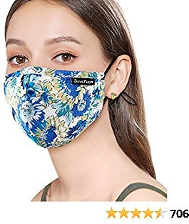 Sunsturm Dust Mask Reusable Cotton Face Mouth Mask with Activated Carbon Filter for Gardening Woodworking Mowing Outdoor Washable Mouth Mask (Color 1)
