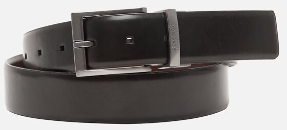 Reversible Stretch Belt with Black Harness Buckle