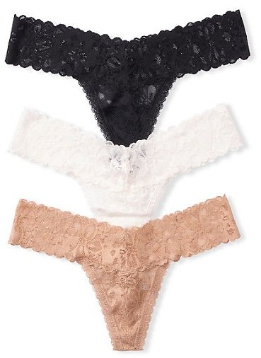 3-pack Lace Thong Panties - The Lacie - Vs