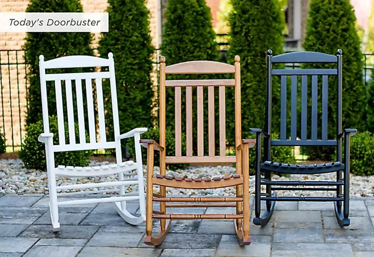 Today Only! Wooden Rocking Chairs - Kirklands