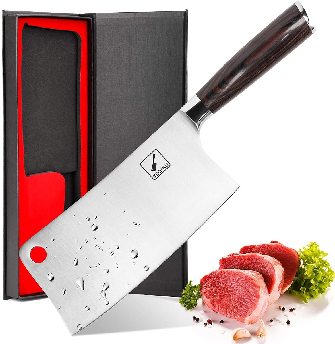 45% OFF - Imarku Cleaver Knife 7 Inch German High Carbon Stainless Steel Chopper Knife for Home Kitchen