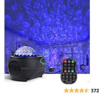 Star Projector Night Light for Kids Bedroom,Galaxy Globe Sky Ceiling Lamp with Bluetooth Speaker Music Remote Control,15 Colors Starry Planetarium with Nebula for Adults/Game Room/Home Theatre