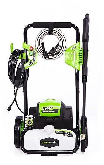 Greenworks 1800 PSI 1.1 GPM Electric Power Washer Black/Green 5101402