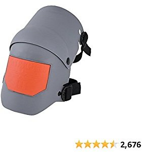 Sellstrom - 96110 KneePro Knee Pads - Ultra Flex III - Heavy Duty Protection and Comfort for Construction, Gardening, Army, Flooring Work - Grey and Orange