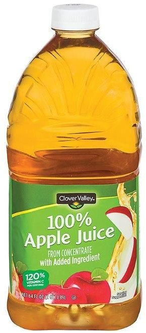2 for $2 Clover Valley 100% Apple Juice 64oz.