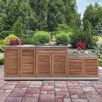 $500 OFF 4-piece NewAge Products Grove Stainless Steel Outdoor Kitchen