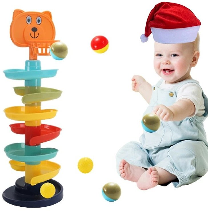 Rolling Ball Pile Tower Puzzle for Babies