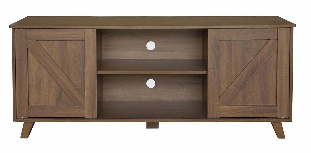 TV Stand Brown 57.9 In. MDF for 45 In. TV