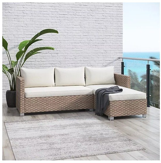 Royal Garden Harriet Patio Sectional Couch 2-piece Set