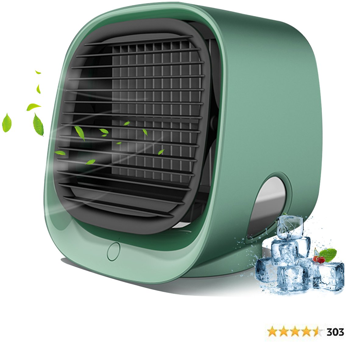 SeaTop Portable Air Conditioner, Mini Personal Evaporative Air Cooler, Super Quiet Desk Small AC Unit with 7 Colors LED Light, USB 3 Speeds Fan for Office Room Bedroom
