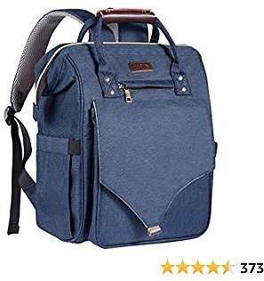 Diaper Bag Backpack, Kaome Diaper Bags for Baby Boy, Large Capacity Travel Back Pack, Waterproof Maternity Baby Bags with Changing Nursing Pad and Baby Bottle Bag-Navy
