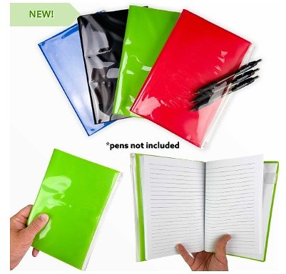 4 PACK Clear Pocket Journals with 80 Sheets of Two-sided Lined Paper. Always Be Ready to Take Notes, Make a List, Jot Down a Reminder, Etc. Small $1.49 Shipping Cost, But Buy Two or More 4 Packs and SHIPPING IS FREE! - 13 Deals