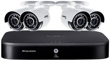 Lorex 4K UHD 8-Channel DVR Security System with 2TB HDD DVR and 8 4K 8MP Analog UHD Bullet Cameras with Night Vision 120'
