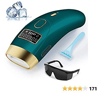 Ice Cool IPL Hair Removal For Women and Men Permanent Painless Laser Hair Remover Machine for Body Face Chin Legs Bikini At-Home Use