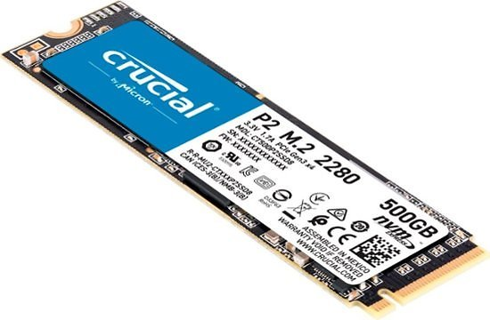 Crucial P2 500GB 3D NAND NVMe PCIe M.2 Solid State Drive CT500P2SSD8