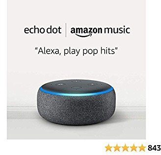 70% Off Echo Dot (3rd Gen) for $4.99 and 1 Month of Amazon Music Unlimited for $9.99 with Auto-renewal -Charcoal