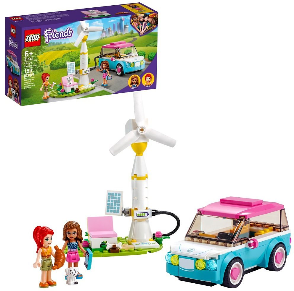 LEGO Friends Olivia's Electric Car 41443 Building Toy (183 Pieces)