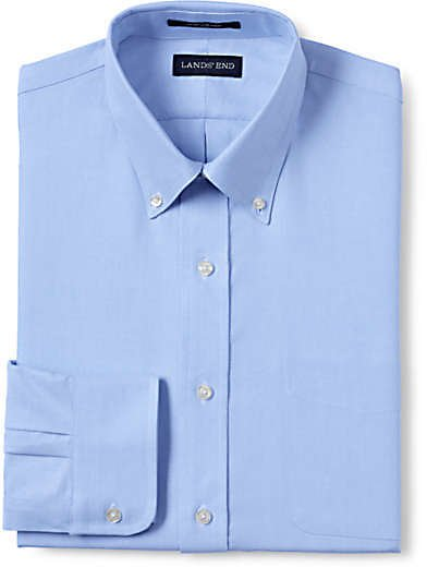Men's Traditional Fit Supima Oxford Hyde Park Dress Shirt