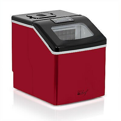 Deco Chef Countertop Portable Ice Maker for Home or Office, 40 Lb/Day, Red 840133929263