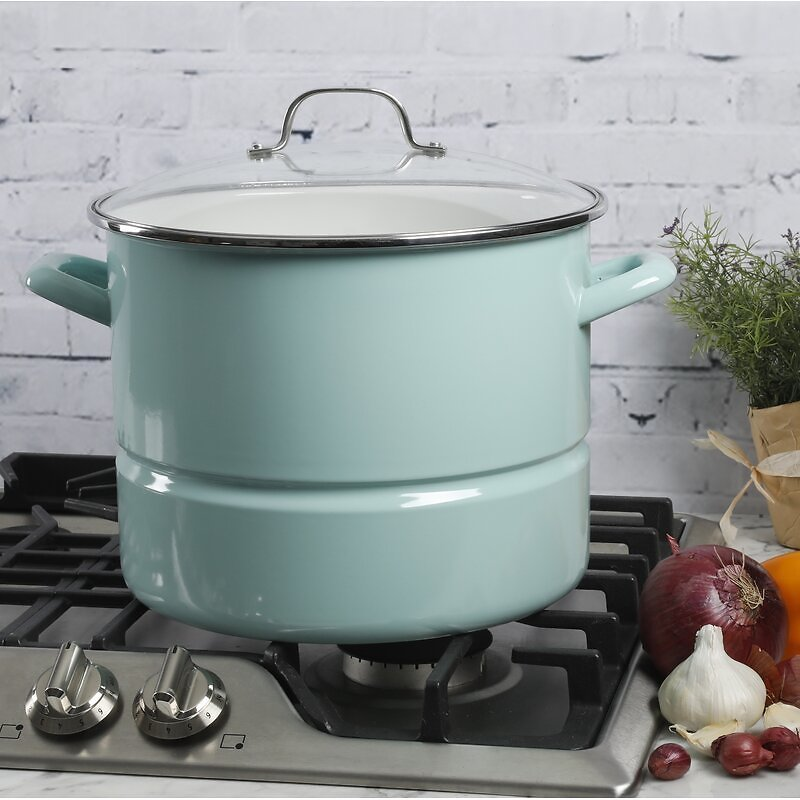 Kenmore 16 Qt. Non-Stick Stainless Steel Steamer Pot with Lid