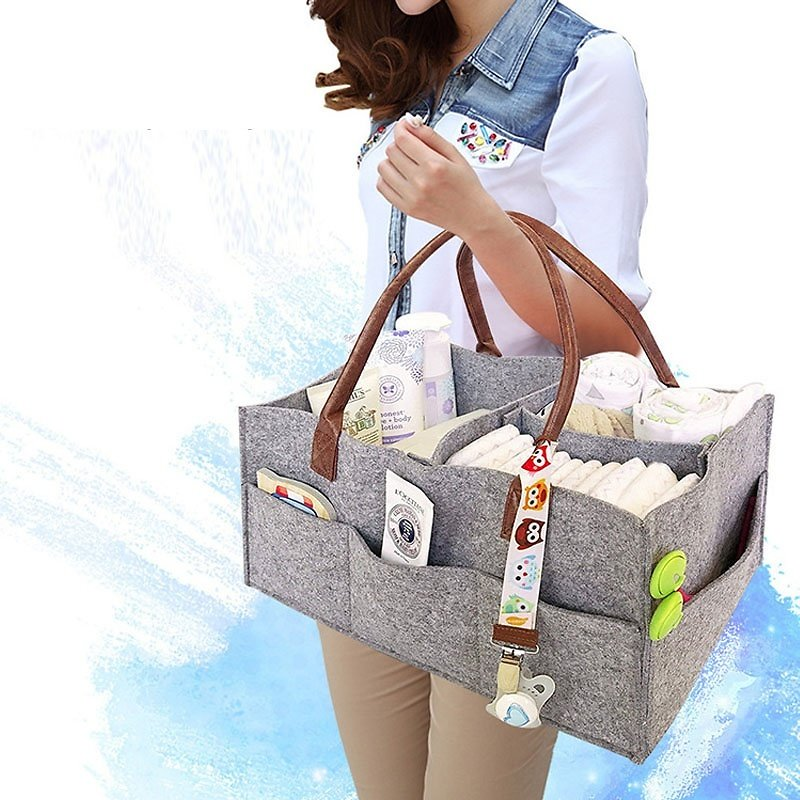 Large Cloth Storage Capacity Diaper Bag Foldable Baby Large Size Diaper Caddy