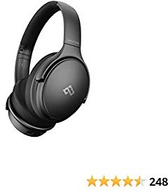 Infurture Noise Cancelling Headphones Bluetooth 5.0,Wireless Over Ear Headphones,Hi-Fi Stereo Deep Bass,Memory-Protein Earmuffs,Quick Charge 40H Playtime for TV, Travel,Online Class, Home Office