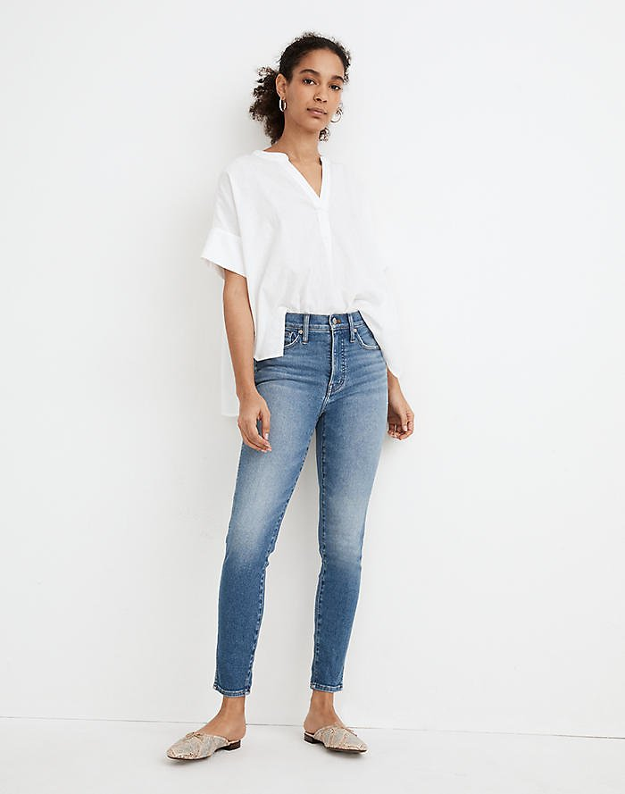 Women's High-Rise Crop Jeans in Sheffield Wash   Madewell