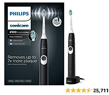 Philips Sonicare HX6810/50 ProtectiveClean 4100 Rechargeable Electric Toothbrush...