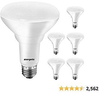 LED Recessed Light Bulbs BR30, 65W Equivalent, Dimmable, Warm White 3000K, Indoor Flood Lights for Recessed Cans, UL Listed, 6 Pack