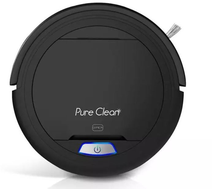 Automatic Robot Vacuum Cleaner w/ 2 Detachable Brushes, Washable Dust Filter