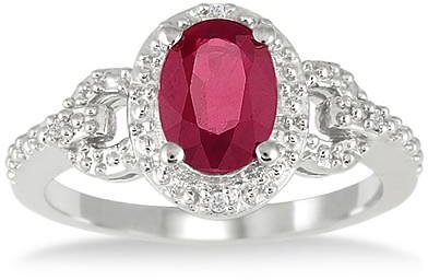 85% Off Ruby and Diamond Ring