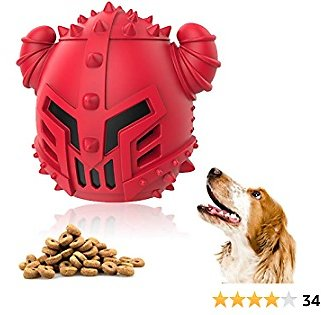 Dog Treat Toys for Aggressive Chewers, Interactive Puzzle Dispensing Toys for Small Large Dog Teeth Cleaning/Chewing/Playing Toys Ball