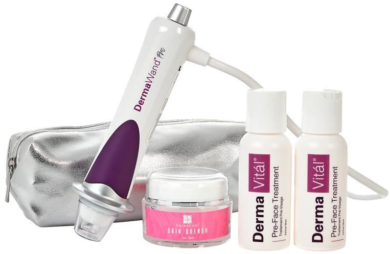 New! DermaWand Pro Anti-Aging Kit with 2 PreFace, Skin Quench & Bag