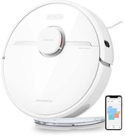 DreameTech D9 Robotic Vacuum and Mop Cleaner, LDS Laser Navigation Robot Vacuum Sweep and Mop 2-in-1, 3000Pa Strong Suction Power, 150min Runtime, SLAM Smart Planning for Pet Hair, Carpet, Hard Floor - Newegg.com