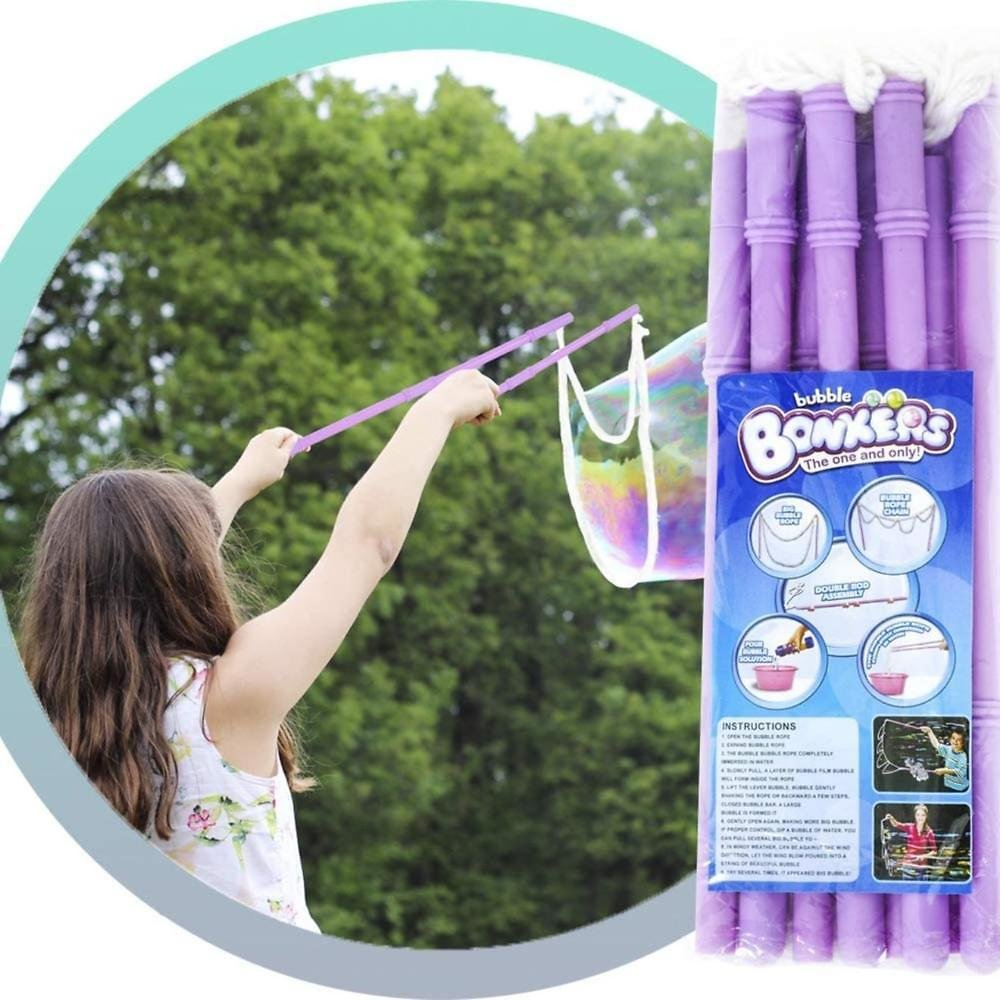 Americas Toys Giant Bubble Wands Bubble Toy 2 Piece Per Pack for Kids Big Bubbles Outdoor Activities and Party - Bubble Solution