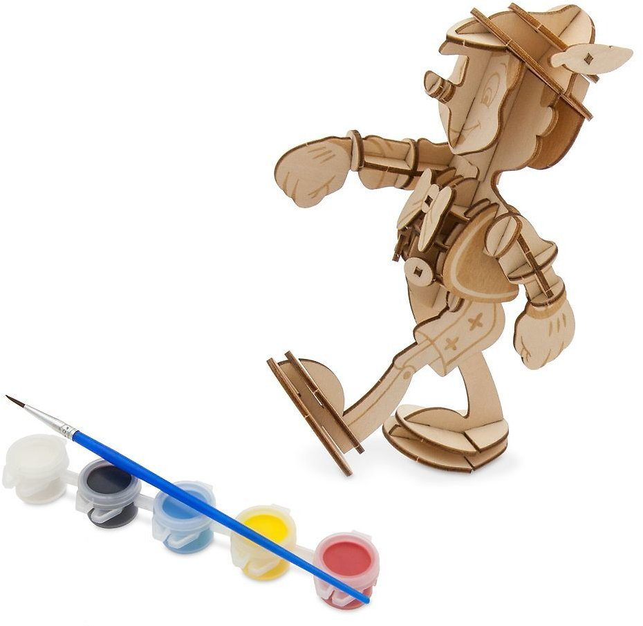 Today Only! Pinocchio 3D Wood Model and Paint Set – Disney Ink & Paint   ShopDisney