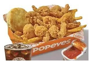 Popeyes Butterfly Shrimp Tacklebox Dinner Free w/ $5 Purchase