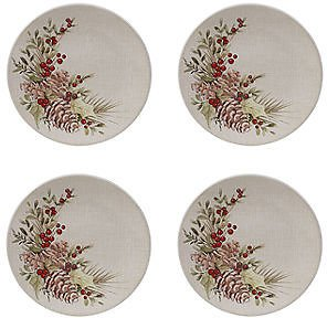 Certified International Holiday Traditions 4-pc. Salad Plate